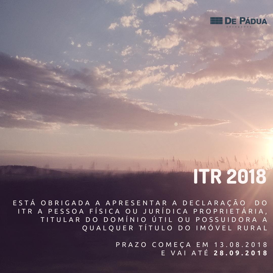 Início do prazo para apresentação da declaração do imposto sobre a propriedade territorial rural (DITR)