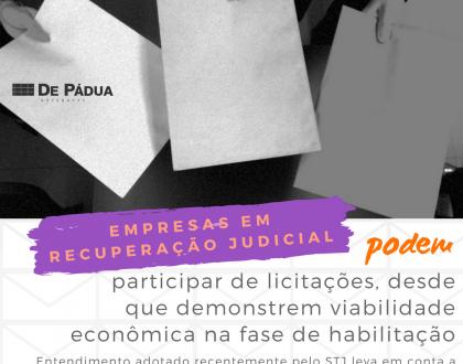Empresas em recuperação judicial podem participar de licitações, decide STJ