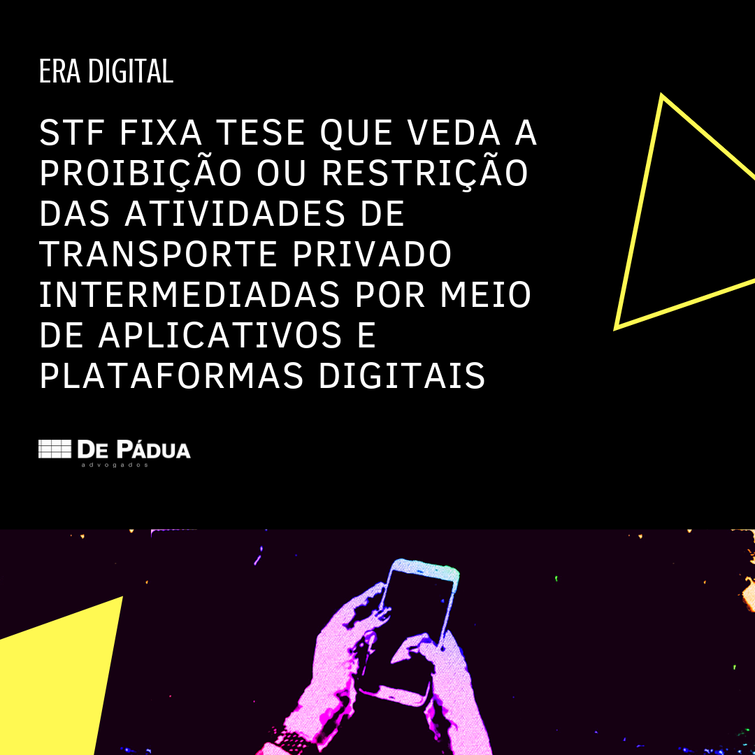 STF assegura uso de aplicativos de transporte privado